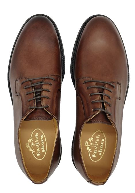 Man Lace-ups with Smooth Upper English Shoes | Lace up shoes | 010MARRONE