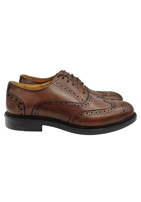 Stringata Uomo con Impunture English Shoes | Stringate | 0902MARRONE