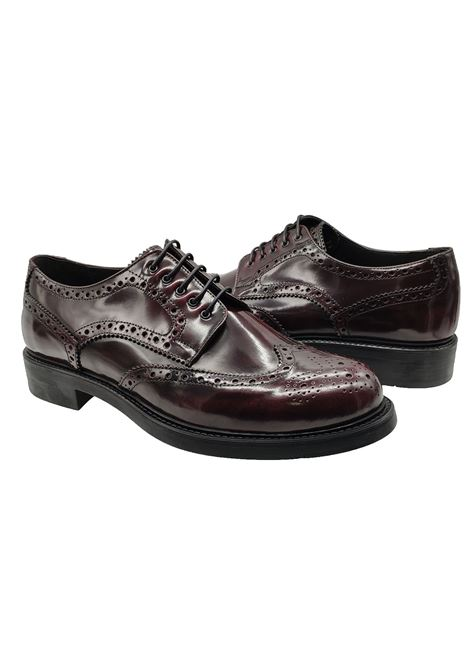 Calzature Uomo Stringate in Pelle Bordeaux con Impunture Florsheim | Stringate | 50957-74BORDEAUX