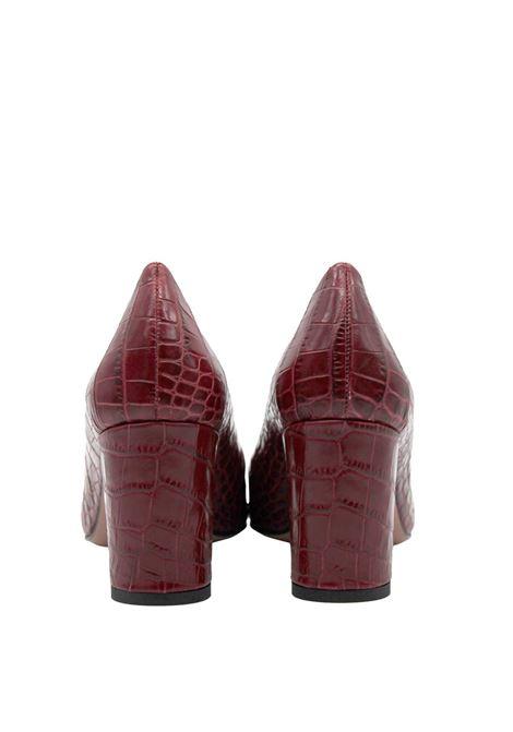 Calzature Donna Décolleté in Pelle Stampata Cocco di Colore Rosso Tacco Alto Fru | Décolleté | 6201SROSSO