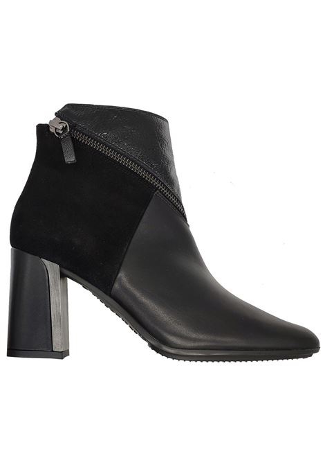 Women's Double Material Ankle Boots Hispanitas | Ankle Boots | HI99368NERO