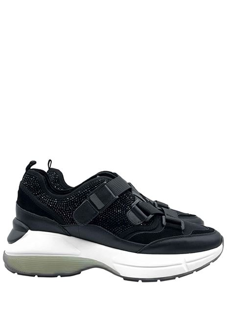 Sneakers Donna Glitter e Pelle Lola Cruz | Sneakers | 444Z00BKNERO