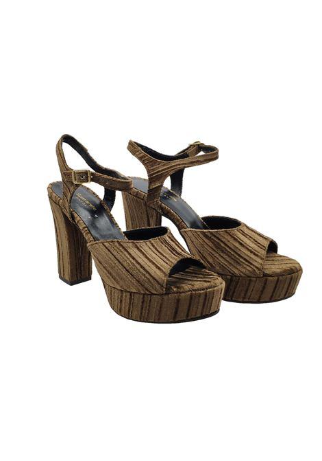 Women's Velvet Sandals Spatarella | Sandals | 646TORTORA