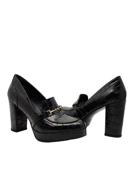 Women's High Heel Loafers Spatarella | Mocassins | 701COCCO/NERO