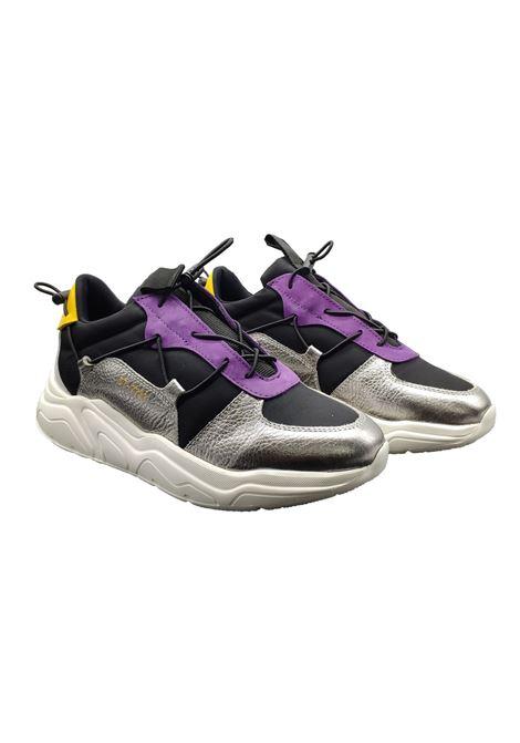 Sneaker Donna Pelle e Tessuto Elastico Stokton | Sneakers | 41-DMULTICOLOR