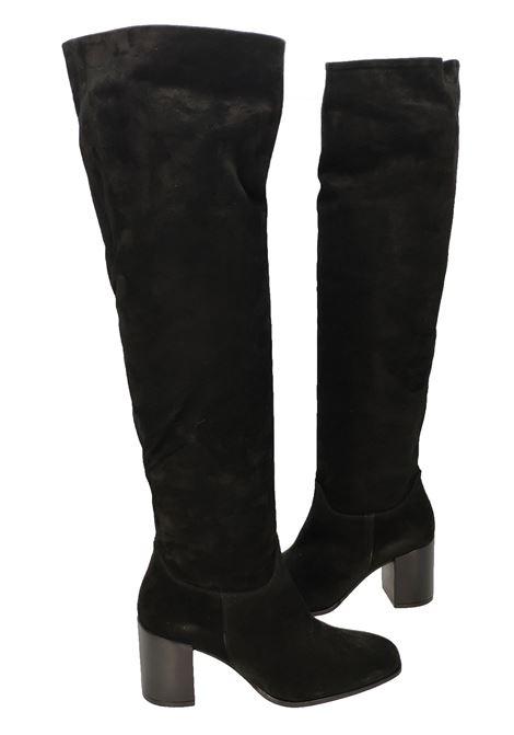 Stivali Donna Camoscio Nero Gambale Alto Unisa | Stivali | URICANERO