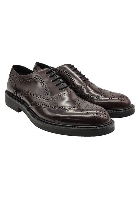 Men's Diplomatic Lace Up Rubber Bottom Valerio | Lace up shoes | 1103BORDEAUX
