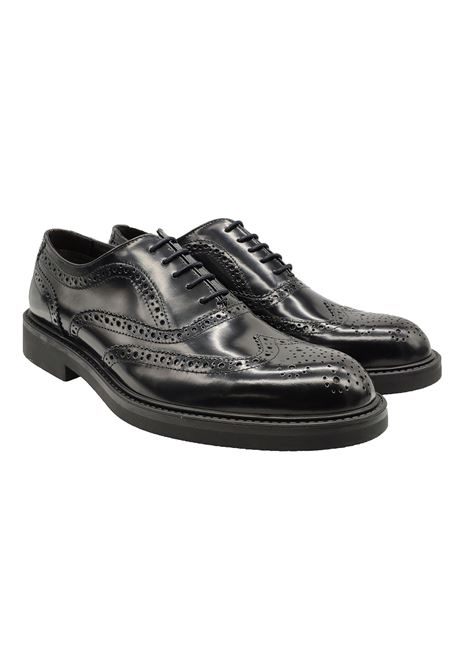 Men's Diplomatic Lace Up Rubber Bottom Valerio | Lace up shoes | 1103NERO