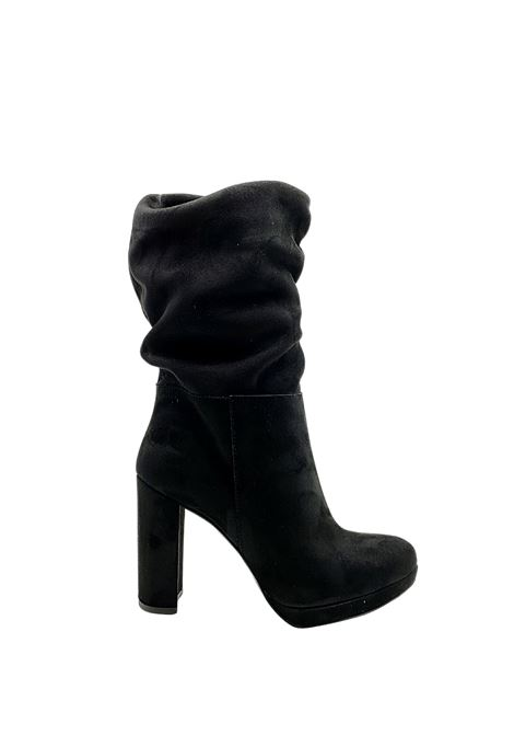 Women's Curled Ankle Boots Exe | Ankle Boots | 796NERO