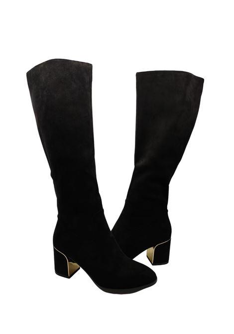 Women's Gold Heel Boots Exe | Boots | XJ116210NERO