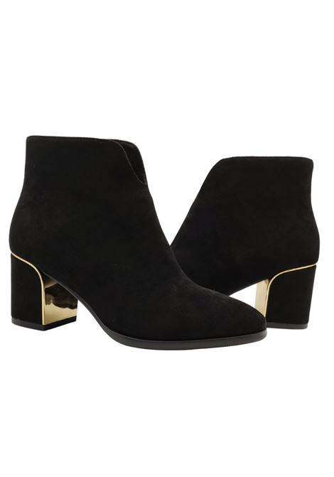 Women's Gold Heel Ankle Boots Exe | Ankle Boots | XJ116215NERO