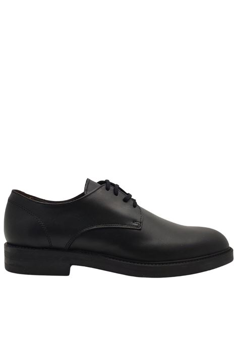 Men's Lace-up Waterproof shoes in Matt Black Leather with Smooth Uppers and Rubber Soles Florsheim | Lace up shoes | 5185601
