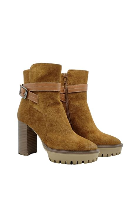 Ankle Boot In Leather Suede Prime By Bruno Premi | Ankle Boots | AZ2104XCUOIO