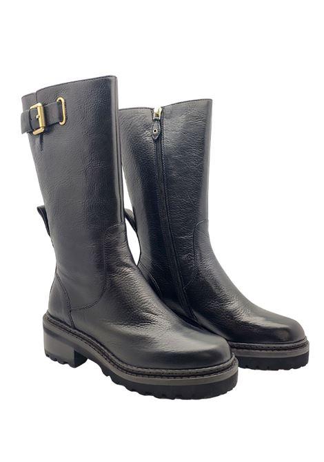 Women's Amphibious Boots Prime By Bruno Premi | Ankle Boots | BA1304PNERO