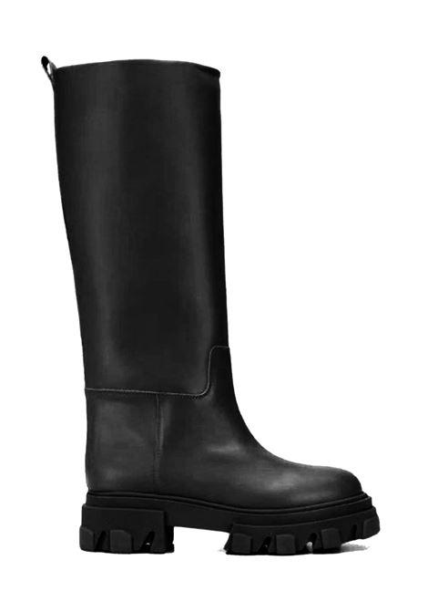 Black Tread Amphibious Boots Woman Spatarella | Boots | 8030NERO