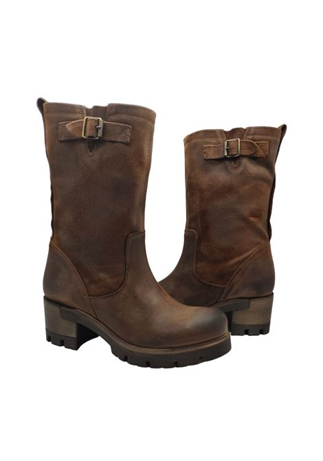 Amphibians Buckle Woman Spatarella | Ankle Boots | D7001/ATABACCO