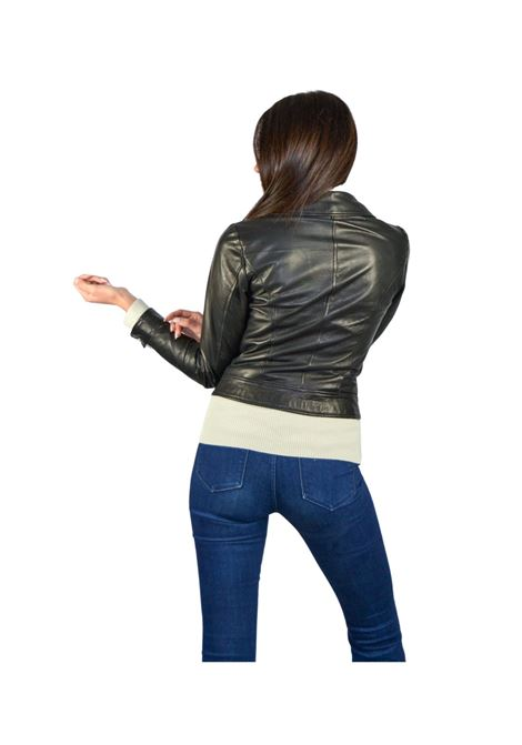 Chiodo Woman Jacket Spatarella | Coats and jackets | P368NERO