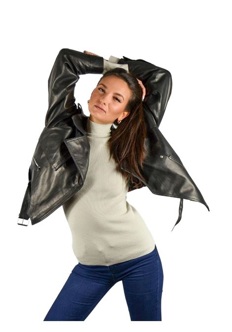 Chiodo Over Woman Jacket Spatarella | Coats and jackets | P469NERO