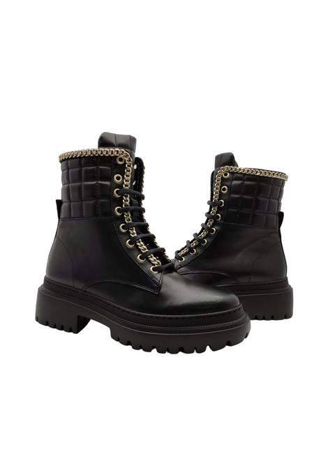 Combat boots for women Stokton | Ankle Boots | BLK47NERO