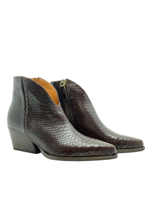 Women's Snakeskin Ankle Boots Les V. | Ankle Boots | 9564MORO