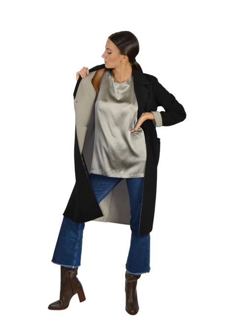 Women's Black Coat Maliparmi | Coats and jackets | JB53072018220B21