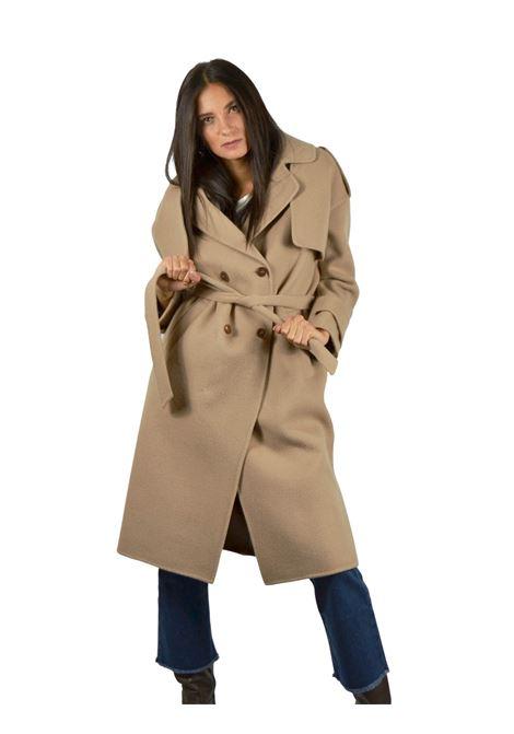 Camel Woman Coat Maliparmi | Coats and jackets | JB53082018411024