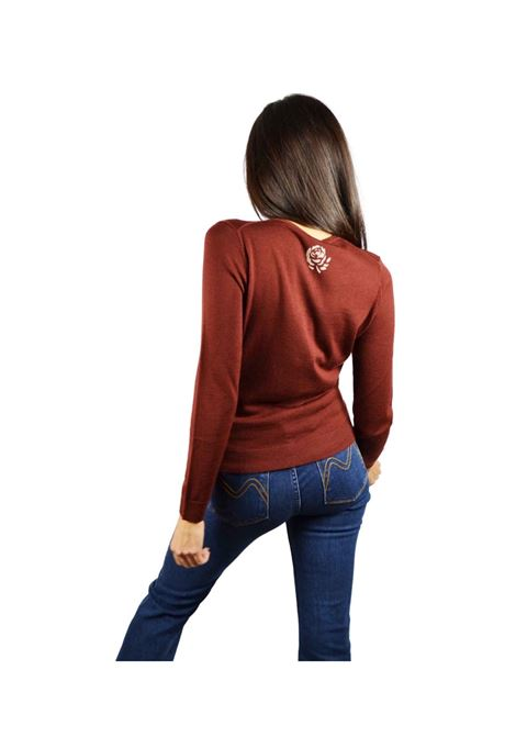 Short Cardigan Woman Brown Maliparmi | Knitwear | JN22837423040011