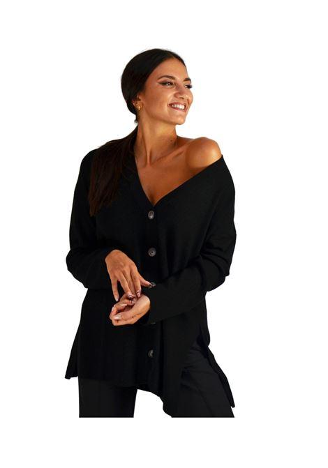 Cardigan Donna Nero Maliparmi | Maglieria | JN35487044420000