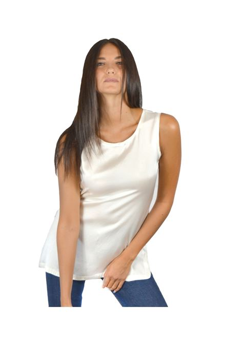 Women's White Tank Top Maliparmi | Shirts and tops | JP50793102110001