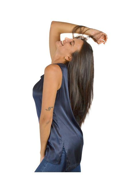 Canotta Donna Blu Navy Maliparmi | Camicie e Top | JP50793102180025