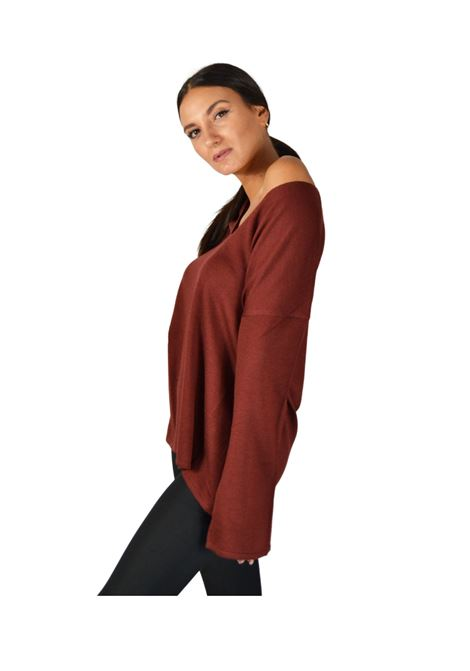 Women's Brown Sweater Maliparmi | Knitwear | JQ47997423040011