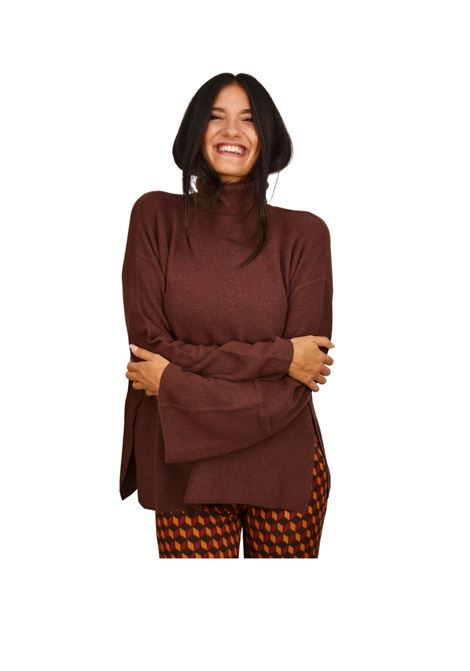 Terracotta Woman Sweater Maliparmi | Knitwear | JQ48067044440020