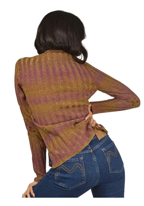 Women's Gold Lamé Sweater Maliparmi | Knitwear | JQ48377046951B70