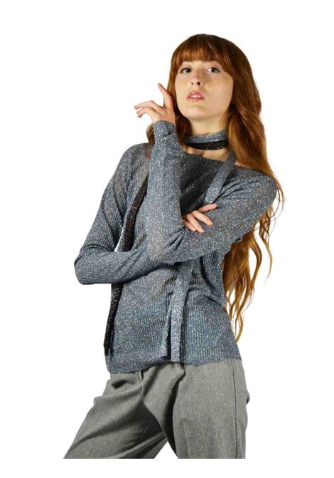 Women's Blue Sweater Maliparmi | Knitwear | JQ48457036580012