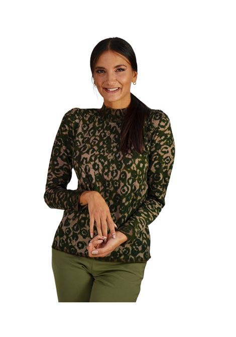 Women's Animalier Green Sweater Maliparmi | Knitwear | JQ484870477B6081