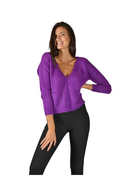 Women's Purple Cardigan Pink Memories | Knitwear | 1095242