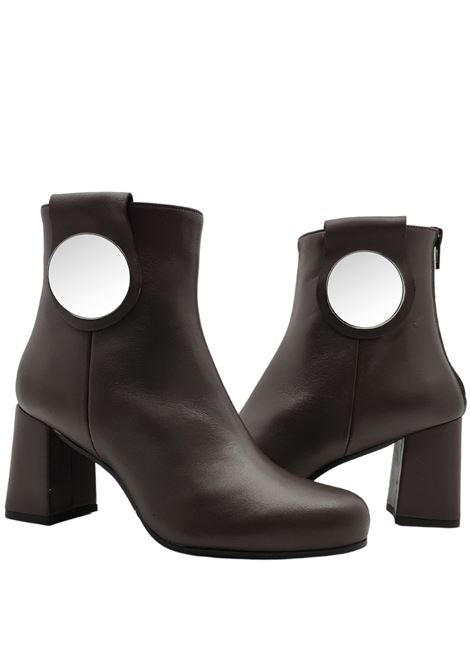 Woman ankle boot with plaque Tattoo | Ankle Boots | E52TAUPE
