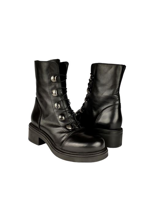 Women's Studded Ankle Boots Tattoo | Ankle Boots | GAIA 20NERO