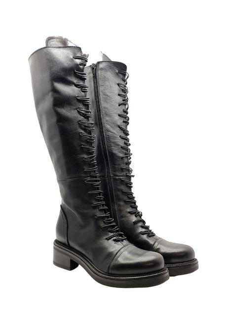 Women's Lace-up Amphibious Boots Tattoo | Boots | GAIA16NERO