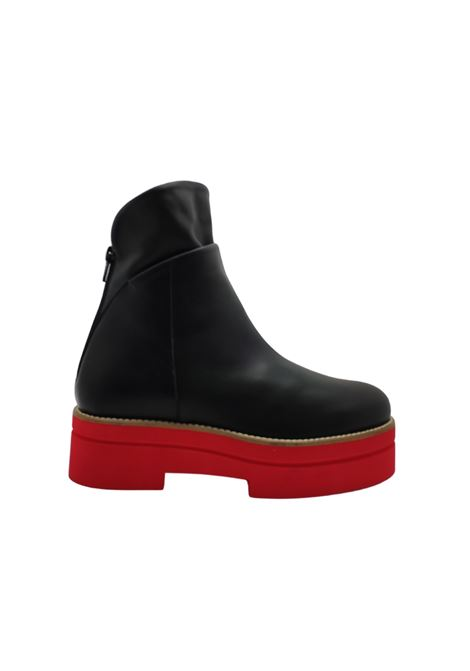 Red Wedge Ankle Boots Woman Tattoo | Ankle Boots | P28NERO/ROSSO