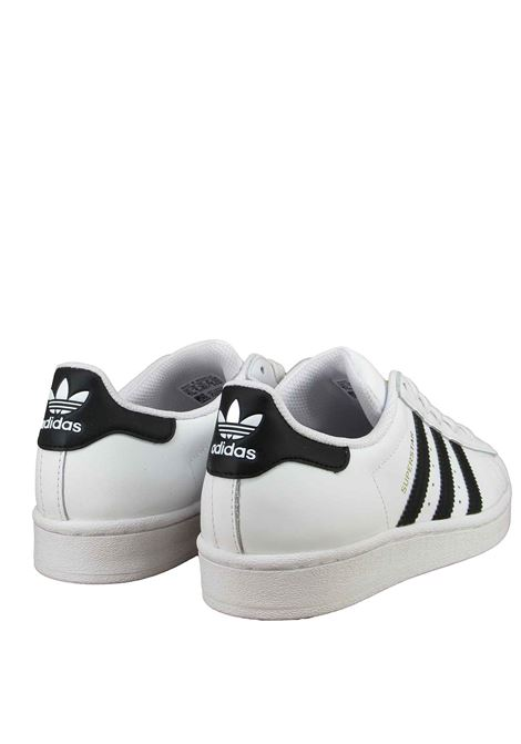 Women's Sneakers Superstar in Black and White Leather FU7712 Adidas | Sneakers | SUPERSTAR JFU7712