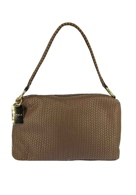 Women's Shoulder Bag Carolina in Tan Braided Leather with Leather Shoulder Strap cce051a0021 Almala | Bags and backpacks | CAROLINA014