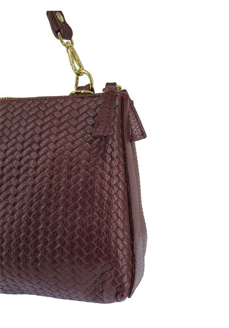 Women's Small Shoulder Bag Pennie in Bordeaux Braided Leather with Adjustable and Detachable Leather Shoulder Strap cc031a0021 Almala | Bags and backpacks | PENNIE018