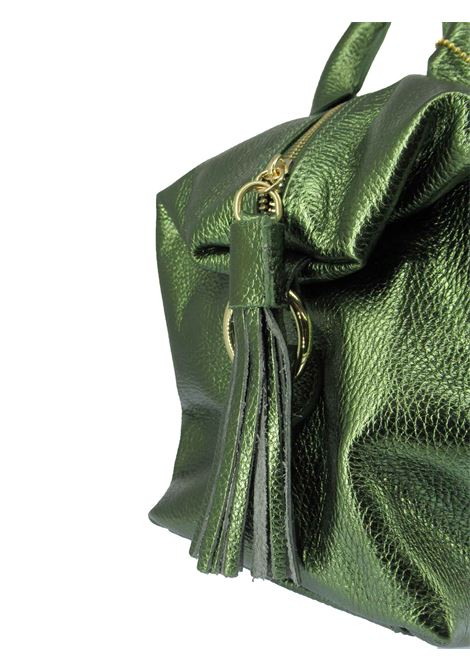 Women's River Shoulder Bag in Green Laminated Leather with Adjustable and Detachable Leather Shoulder Strap gd041c3111 Almala | Bags and backpacks | RIVER005