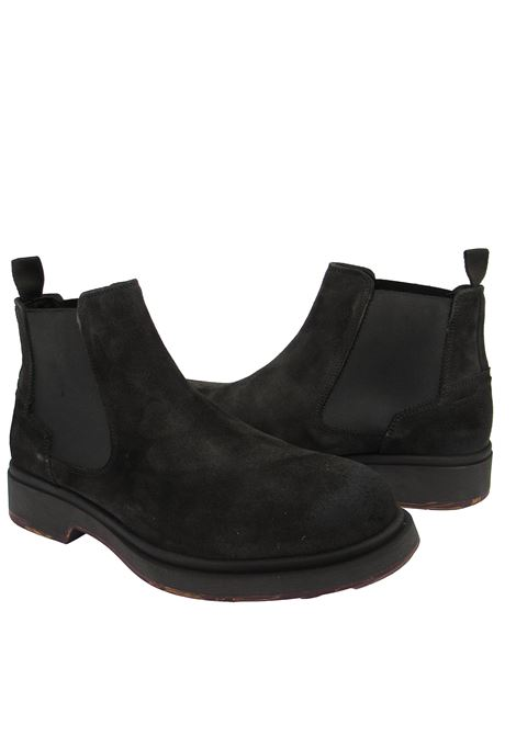 Men's Shoes Chelsea Boot Ankle Boots in Dark Borwn Suede with Rubber Sole Ambitious |  | 11013014
