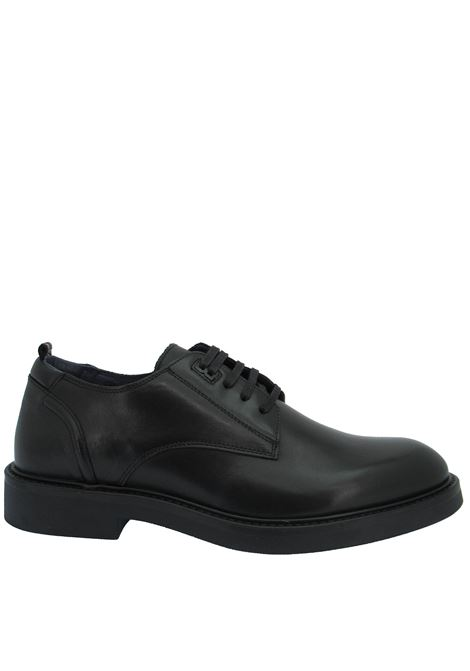 Men's Shoes Lace-up in Matt Black Leather with Memory Foam Insole and Rubber Sole Ambitious | Lace up shoes | 11561001