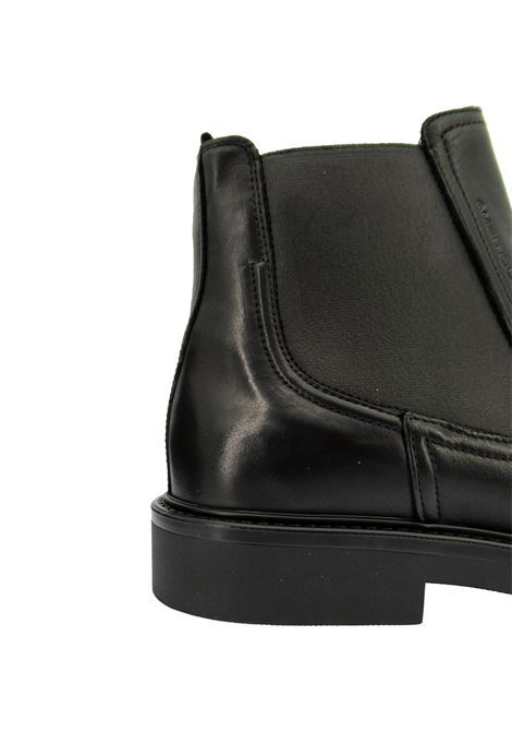 Men's Shoes Ankle Boots Chelsea Boot in Black Leather with Rubber Sole and Memory Foam Footbed Ambitious |  | 11597001