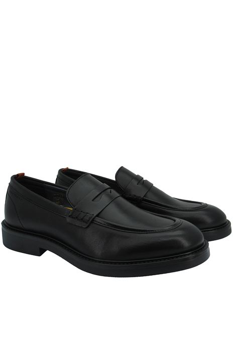 Men's Shoes Loafers in Black Leather with Rubber Sole and Memory Foam Footbed Ambitious | Mocassins | 11871001