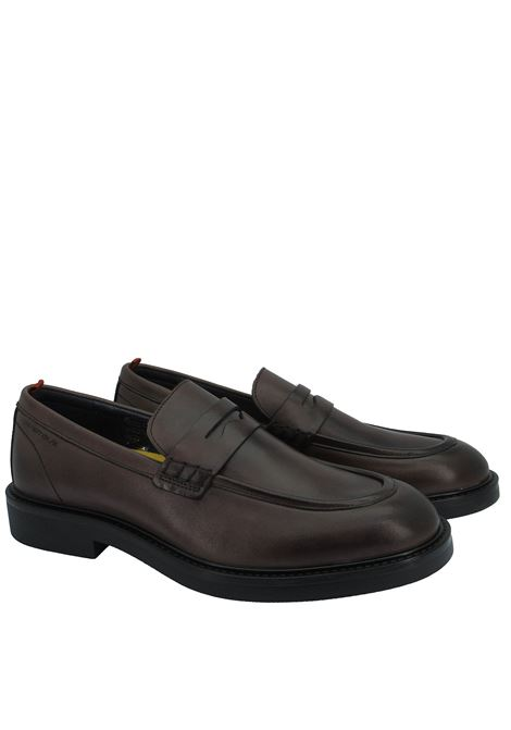 Men's Shoes Loafers in Brown Leather with Rubber Sole and Memory Foam Footbed Ambitious | Mocassins | 11871014