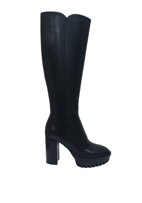 Women's Shoes Tep Alea High Boots in Black Leather with High Heel and Rubber Platform Tank Bruno Premi | Boots | BC0906X001